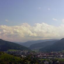 Aussicht auf Haslach und Tal