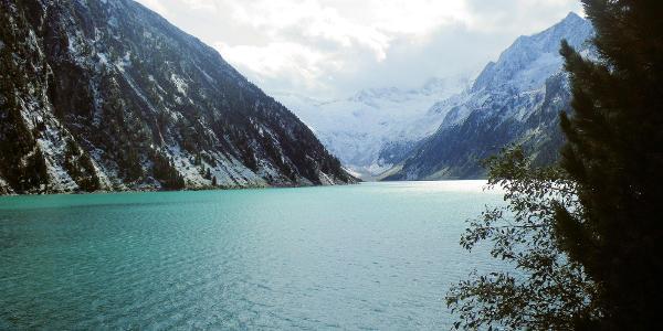... die Alpenüberquerung: Schlegeisstausee - St. Jakob - der Schlegeisstausee