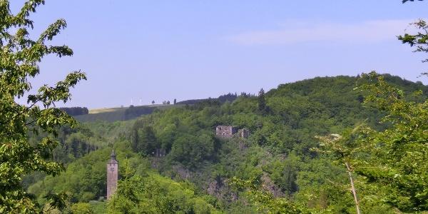 Die Ruinen von Bad Berneck