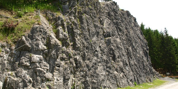 Klettergarten Latschau Einstieg
