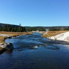 Fantastische Landschaft im Yellowstone Nationalpark