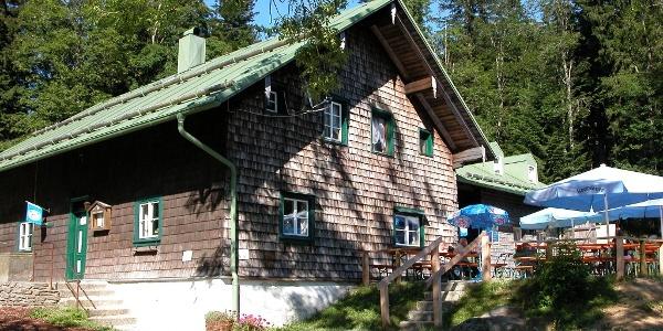 Südansicht der Hütte