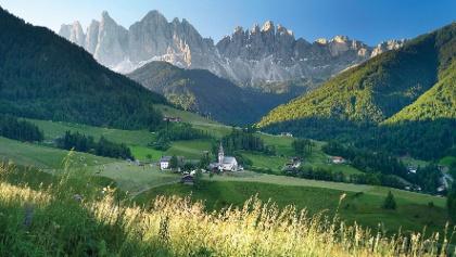 Dolomites Valley Villnöss with the Geislers
