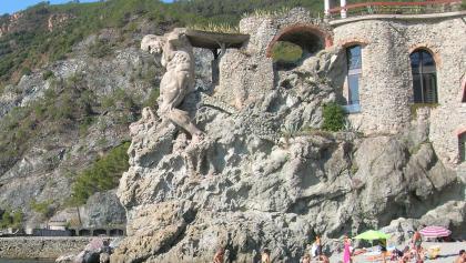 """Gigante"", a stunning sculpture at  Monterosso al Mare."