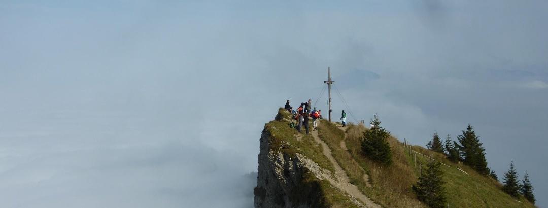 Gipfel des Steineberges im Naturpark Nagelfluhkette