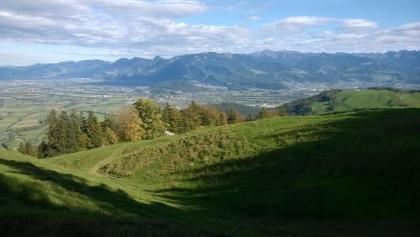 vor Montlinger Schwamm Richtung Rheintal
