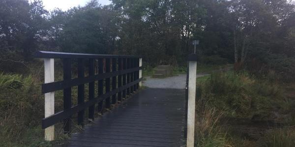 Footbridge leaving Fort William on the coastal path