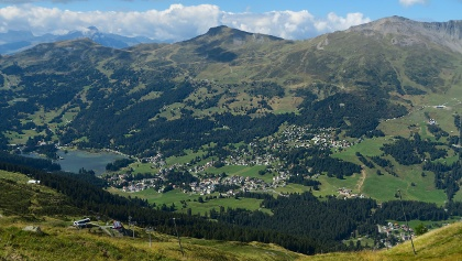 Blick vom Urdenfürggli auf Lenzerheide.