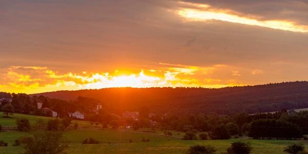 Die Sonne erwacht über Greimerath