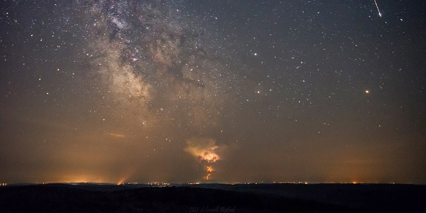 Meteor shower from Zselic Park of Stars