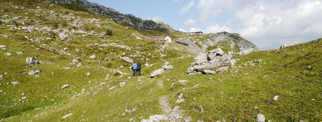 Blick zum Rifugio Albani