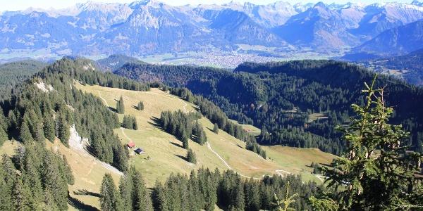 Blick vom Besler auf die Oberstdorfer Berge