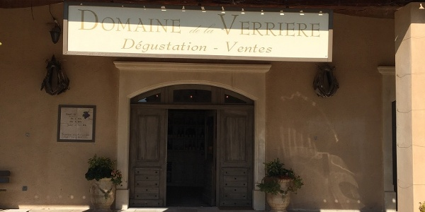 """The cave for """"degustation"""" at the Domaine de Verriere"""
