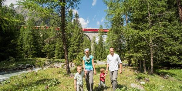 Bahnerlebnisweg Albula © Rhätische Bahn
