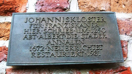 pro memoriam  Abt Albert von Stade und Annalen