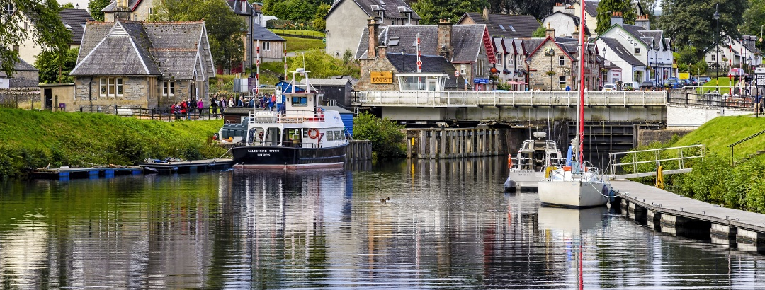Fort Augustus on the Caledonian Canal
