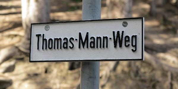 Thomas-Mann-Weg in Davos.