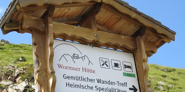 Lockt zur Einkehr: Wormser Hütte.