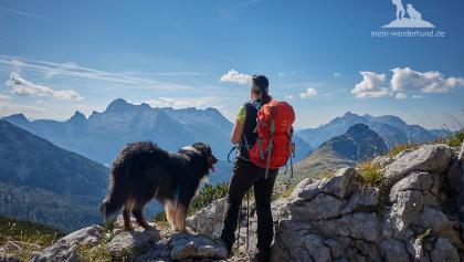 Ausblick beim Abstieg vom Seehorn ©Sven Müller, mein-wanderhund.de