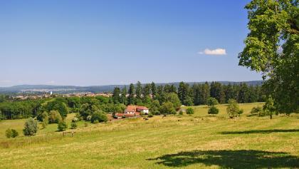 Blick auf den Metzlinschwander Hof