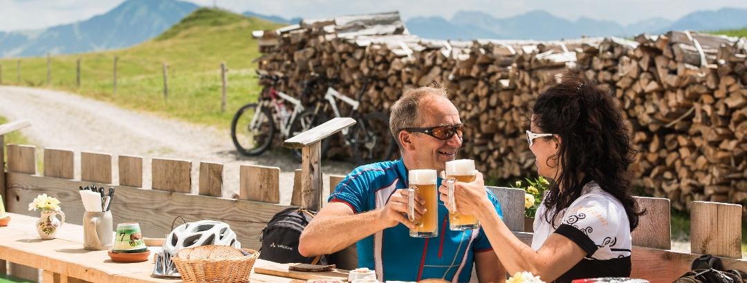 Einkehr auf der Juget-Alpe