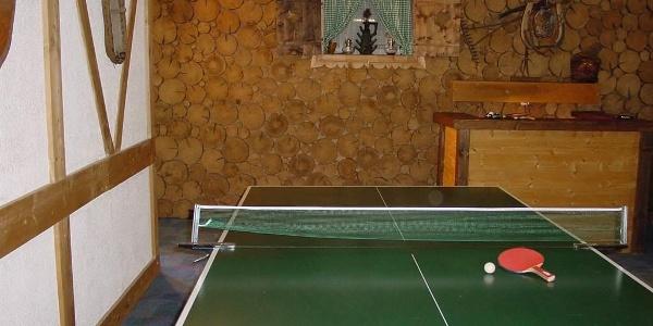 Tennis-und Aufenthaltsraum