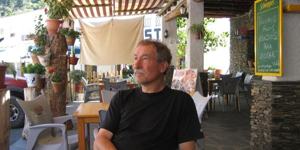 Der Autor in der Dorfkneipe von Trevélez