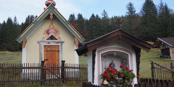 Kleine Kapelle in der Nähe des Ausgangspunkts