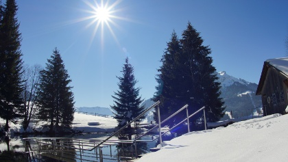 Kneippanlage Schwandalpweiher im Winter