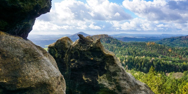 Am Marienfelsen (Mariina skála, 428 m ü. NN)