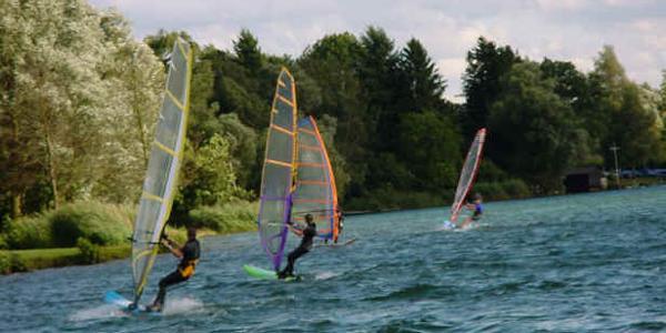 Wassersport am Inheidener See