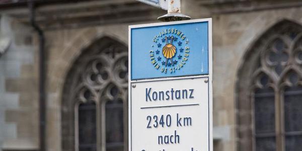 Jakobsweg/Schwabenweg, Start beim Konstanzer Münster