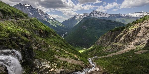 Distant views of Glacier National Park