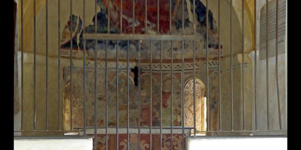 Wandmalereien in der Capella Santa Brigida