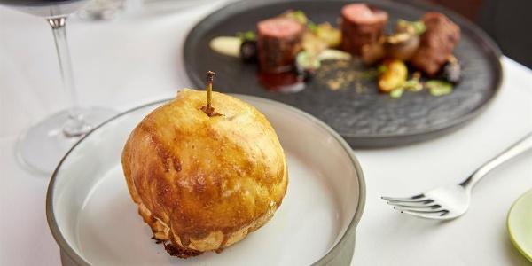 Kreation des Kochs im Restaurant zur Krone