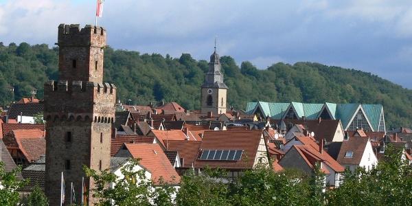 Panorama der Stadt Obernburg