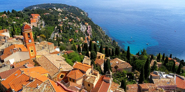 Roquebrune-Cap Martin seen from above