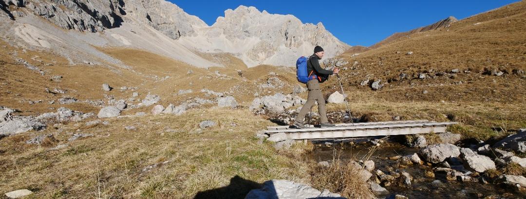 Bachüberquerung im Val di Fassa