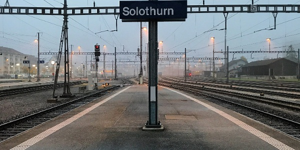 Bahnhof Solothurn.