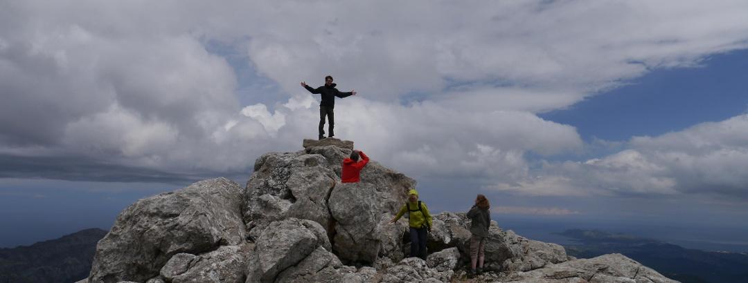 Pe vârful Puig de Massanella