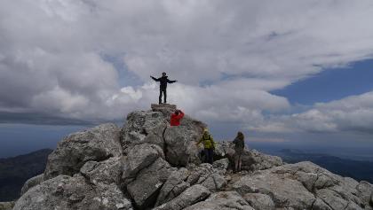 En la cima del Puig de Massanella