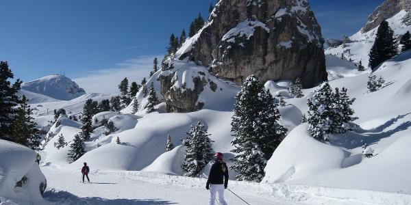 Die Sellaronda im Skigebiet Gröden