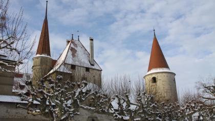 Winterliches Avenches.