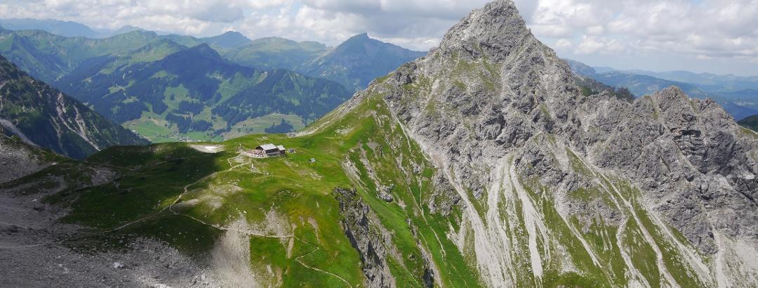 Fiderepasshütte und Oberstdorfer Hammerspitze
