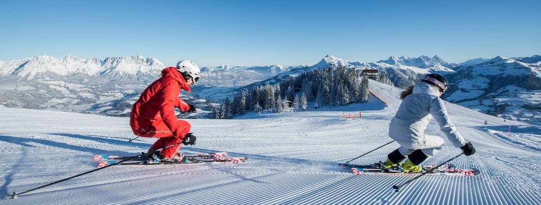 Skifahren im Skigebiet Kitzbühel / Kirchberg