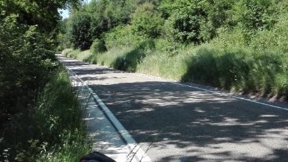 Einsame Landstraßen im Altmühltal.