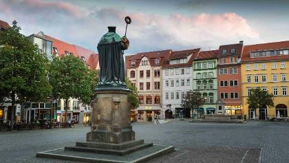Schleifenroute - Markt mit Hanfried Stadt Jena