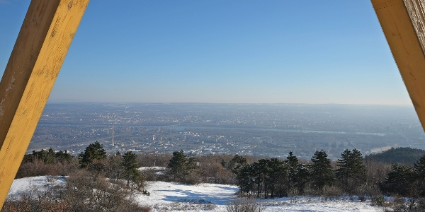 The view from Guckler Károly lookout tower.