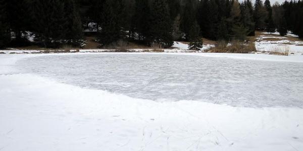 auch Eislaufen ist auf dem Tretsee möglich