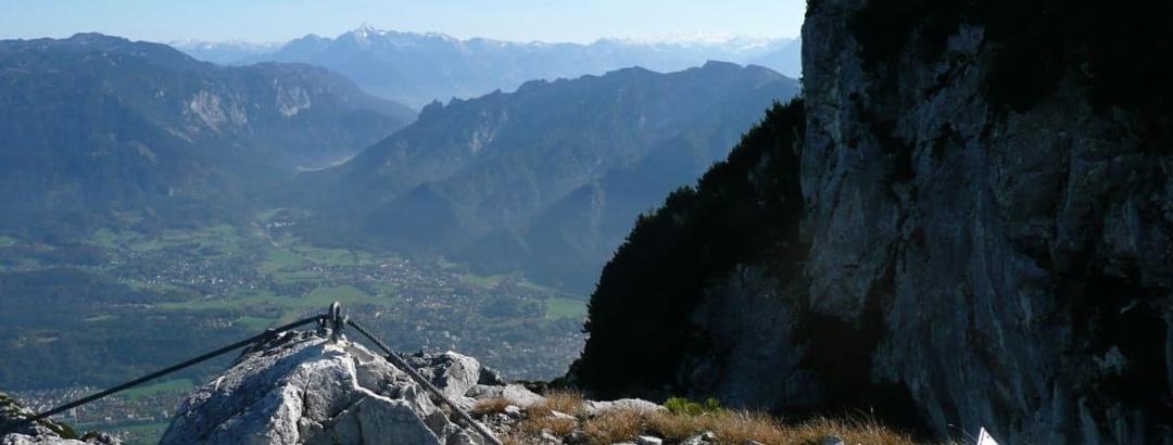 Am Ausstieg des Pidinger Klettersteigs